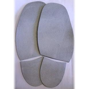 Image of a pair of Grey precision dancing soles for men