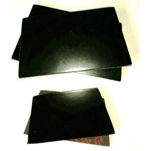 Photo of black resin rubber toe pieces