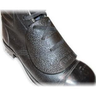 View of a TR Lawman Metatarsal safety guard fitted to a leather shoe