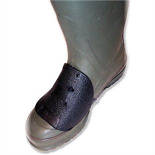 Photo of a metatarsal guard being used on a wellington boot