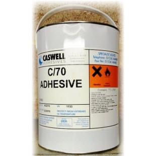 View of a tin of C70 Polyurethane Adhesive for Shoe Repairs