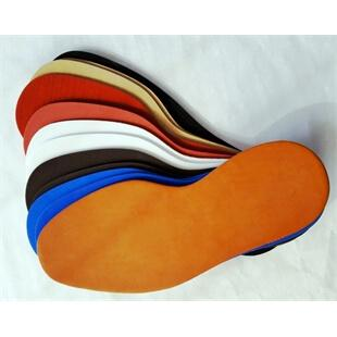 Photo of leather mid soles in multiple colours