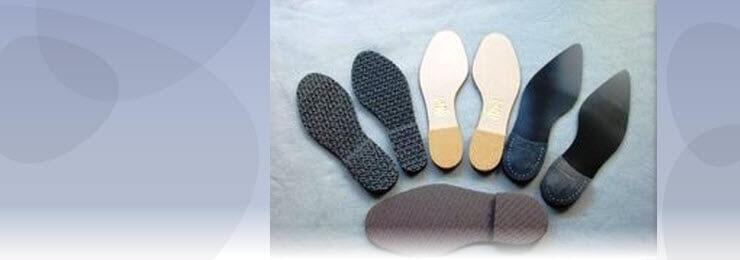 banner photo of a collection of different types of shoe soles