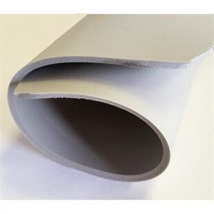 View of a rolled up sheet of Poron Grey 4000 Performance Cushioning
